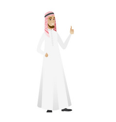 Young muslim businessman giving thumb up vector