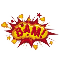 cartoon - bam vector image