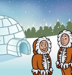 Eskimo igloos vector image vector image