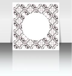 folder design on vintage floral background vector image vector image