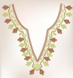 vintage collar design vector image vector image