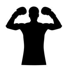 boxer the black color icon vector image