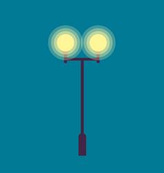 isolated street lamp evening bright illumination vector image