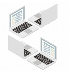isometric flat design laptop vector image