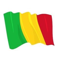 political waving flag of mali vector image vector image