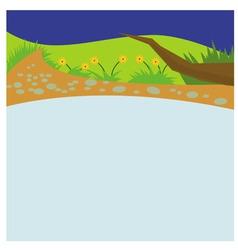 River cartoon vector image