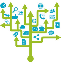 Business networking tree design vector