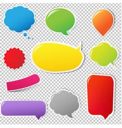 color labels set vector image vector image