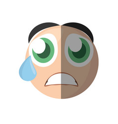emoticon cry cartoon design vector image
