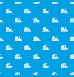factory building pattern seamless blue vector image vector image