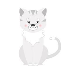 grey cat for children vector image vector image