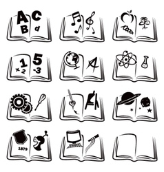 Learning icons vector image vector image
