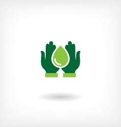 Saving water icon vector image