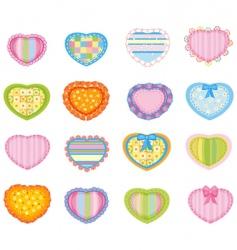 big set of pretty hearts vector image vector image