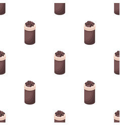 Brown box in the form of a cylinder gift wrapping vector