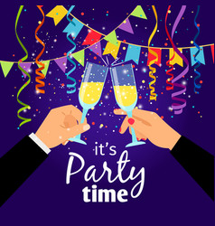 couple party poster vector image vector image