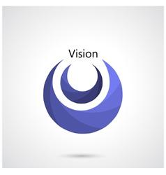 Creative circle abstract logo design templa vector image
