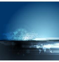 Dark blue concept team background vector image