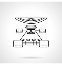 Longboard services flat line icon vector image vector image