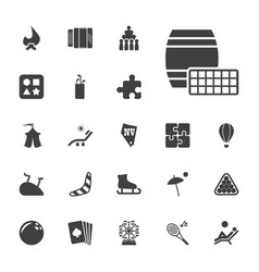 22 leisure icons vector