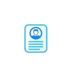 account info profile card personal data icon vector image