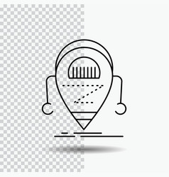 android beta droid robot technology line icon on vector image