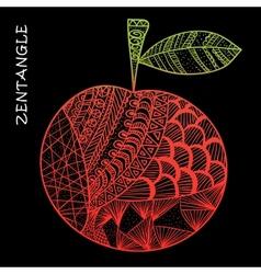 Apple hand drawn zentangle vector