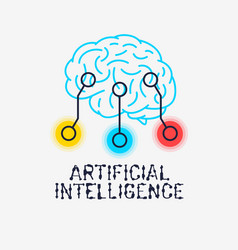 Artificial intelligence themed sign logo design vector