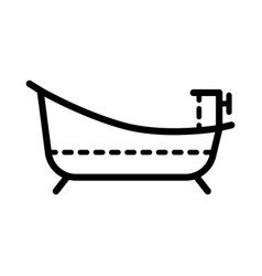 bathroom outline icon linear isolated vector image