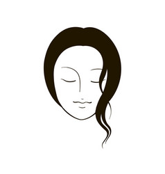beautiful spa girl logo vector image
