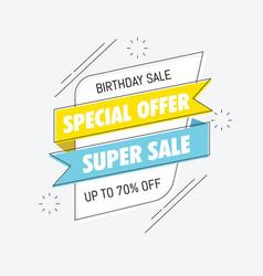 Birthday sale special banner vector