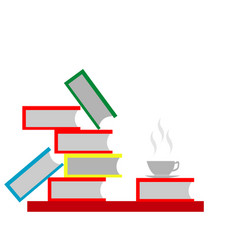 book and coffee vector image