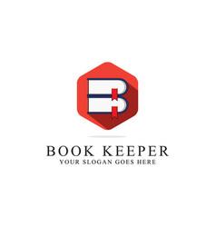 Book keeper logo inspirations library logo vector