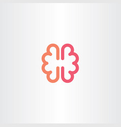 brain icon symbol design element vector image