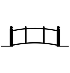 Bridge the black color icon vector