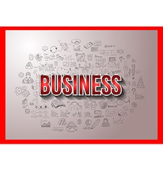 Business Success with Doodle design style vector image