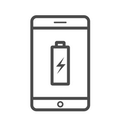 charge phone outline icon isolated on white vector image