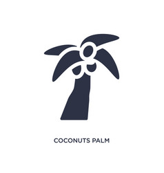 Coconuts palm tree brazil icon on white vector