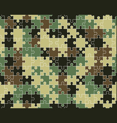 colorful camouflage puzzle vector image