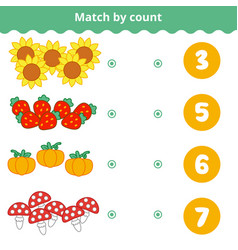 counting game for preschool children count the vector image