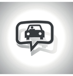 Curved car message icon vector