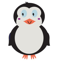 Cute beautiful Penguin isolated on white vector