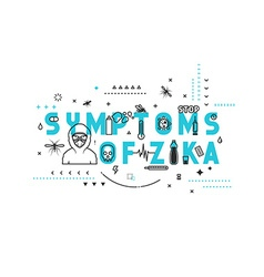 Design concept symptoms of zika vector