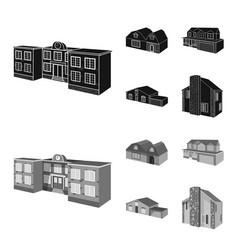 design of facade and housing logo set of vector image