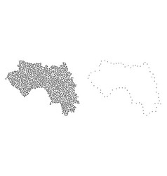dot contour map of french guinea vector image