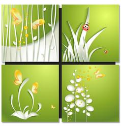 Eco green concept summer card vector image vector image