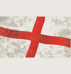 Flag of england and saint george grunge vector