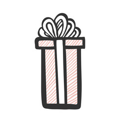 gift icon tall and long present box with striped vector image