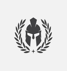 Gladiator helmet spartan helm icon vector