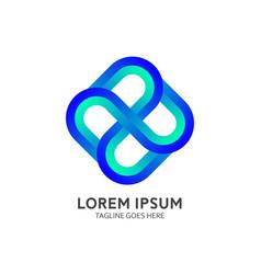Gradient logo template vector